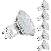 LE 5er GU10 LED Lampen, ersetzt 50W Halogenlampen MR16 4W Warmweiß 2700K 120° Abstrahwinkel LED Birnen Leuchtmittel 350lm