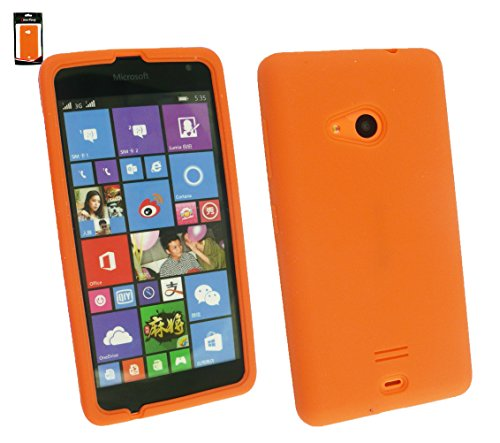 Emartbuy® Silicon Skin Case Cover Orange For Microsoft Lumia 535  available at amazon for Rs.129