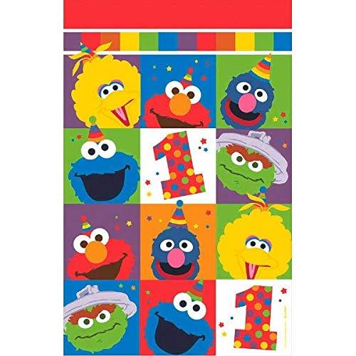 amscan Elmo Turns One Tischdecke, Kunststoff One Size Mehrfarbig