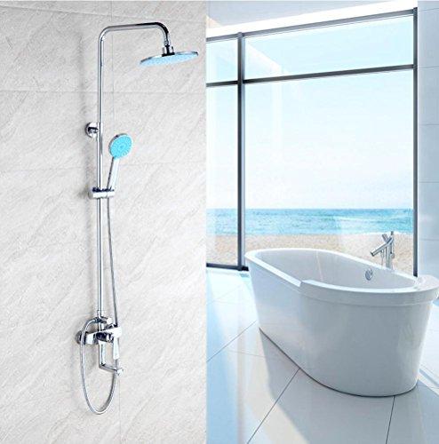 Messing Duschset Mischventil Badewanne Wasserhahn Farbe Druck Düse