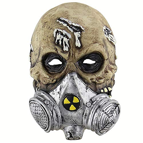 bie Gas Maske Scary Horror Masken Creepy Latex Erwachsene Breathable Festive Party Maske Halloween-kostüm-props ()