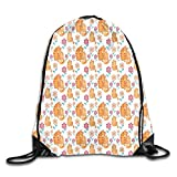 Jebnpse Printed Drawstring Backpacks Bags,Loving Mother and Kitten Cartoon Family Love Themed Cute...