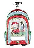 KORI KUMI Trolley Kinder-Rucksack, 47 cm, Red Tuerkis