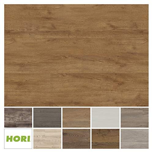 HORI® Klick Vinylboden PVC Bodenbelag I Wasserfest I viele Dekore wählbar I Eiche Basic Hamburg I 16 Dielen im Paket = 2,25 m²
