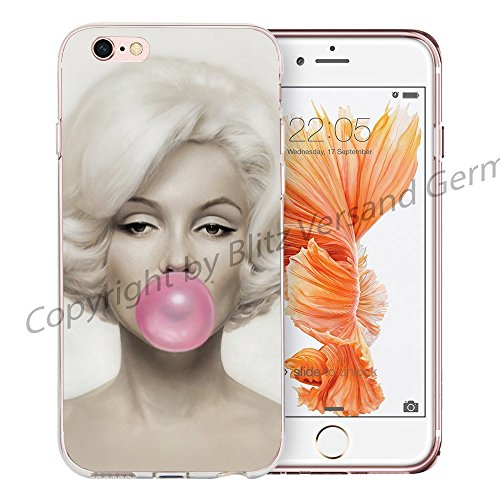 Blitz® Marilyn Monroe motifs housse de protection transparent TPE iPhone M3 iPhone 6 6s M3
