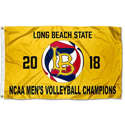 College Flaggen und Banner CO. Cal State Long Beach 49ers 2018Herren Volleyball National Champions Flagge