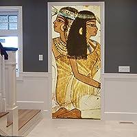 ... Traditionelle Ägyptische Frau Porträt 3D Print Gesprenkelte Braune  Hintergründe 3D Print Umweltfreundliche Vinyl Zimmer Tür Aufkleber Tapeten  Wandbilder ...