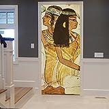 Antiguo Retrato Egipcio Tradicional De La Mujer Impresión 3D Abigarrado Fondos Marrones Impresión En 3D Impresión De Vinilo De La Puerta De La Habitación Papel Tapiz Mural Murales Pegatinas Carteles