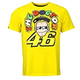 Rossi 46 The Doctor Face Tee yellow, XL