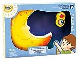 Bieco 04052657 - Nachtlicht Mond mit Musik, ca. 33 x 22 x 5 cm