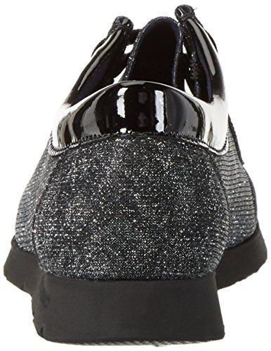 Sioux Grash-d162-10, Mocassins Femme Gris - Grau (darkgrey/schwarz)