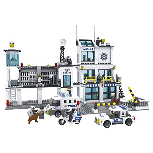 Ausini - Juego de bloques comisaría Policía & calabozos - 1.227 piezas (ColorBaby 42864)
