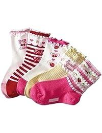 5er Pack Baby Socken 'Mädchen' Babysocken, Socken Größen:7-9 cm