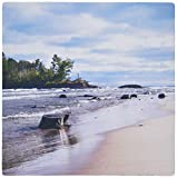 3drose LLC 20,3x 20,3x 0,6cm Little PRESQUE Isle fotografiert auf Lake Superior Norden von Marquette Michigan Mauspad (MP _ 19431_ 1)