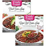 Ready To Eat Black Bean + Cajun Red Bean Soup By Foody Fusion Combo, 200 gms