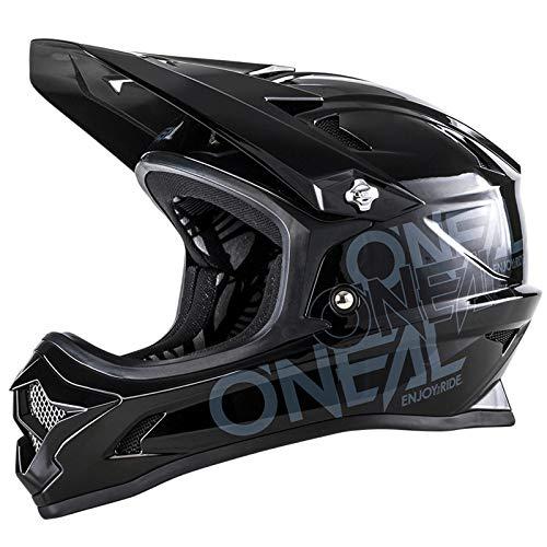 O\'Neal Backflip RL2 Evo Solid Youth Kinder DH Fahrrad Helm schwarz/grau 2018 Oneal: Größe: M (48-50cm)