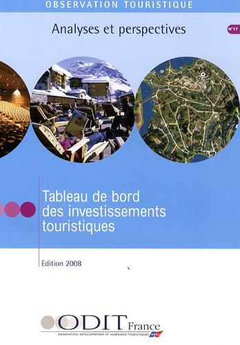 Tableau de bord des investissements touristiques