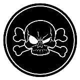 1 Aufkleber Totenkopf I kfz_008 I Ø 4 cm I Skull Sticker für Motorrad-Helm Mofa Roller Fahrrad Notebook Laptop Handy Smartphone Auto-Aufkleber schwarz