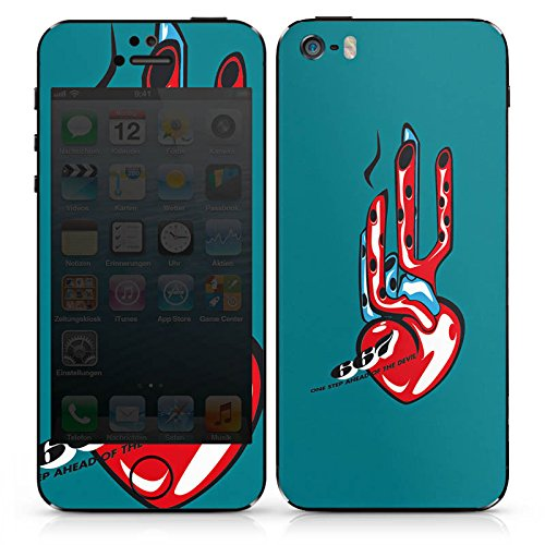 Apple iPhone 4s Case Skin Sticker aus Vinyl-Folie Aufkleber Herz Motorrad Power DesignSkins® glänzend