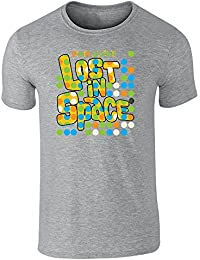 Pop Threads Lost in Space Retro Dots Logo Short Sleeve T-Shirt by