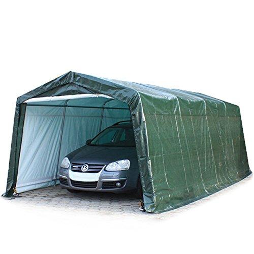 Weidezelt 3,3 x 6,2 m in grün, Unterstand, Carport -zelt mit stabiler Stahlrohrkonstruktion und 260g/m² Plane