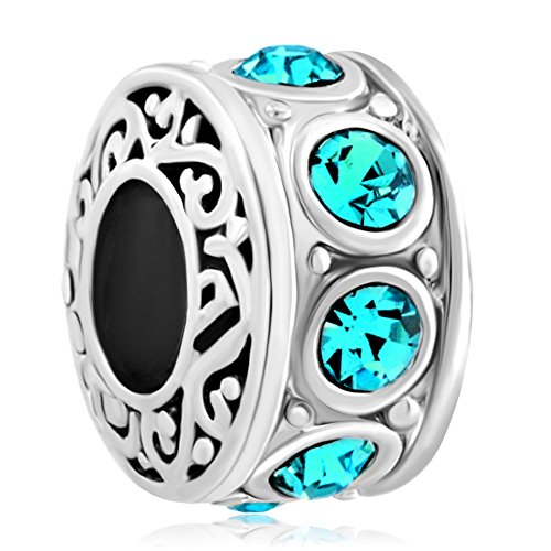 Uniqueen Fit Pandora Charms  - FASHIONOTHER   Metalllegierung (Pandora Charm Geburtsstein Dezember)