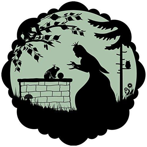 lumentics Märchenaufkleber Fröschkönig - Im Dunkeln leuchtender Motiv-Aufkleber. Sticker mit angepasster Leuchtkraft für das Kinderzimmer. Größe: 30cm