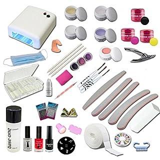UV Gel Starterset Starlight inkl. UV Gerät, Stempelset, Nagelzubehör - Nailart - Einsteigerset - UV Gel Kit