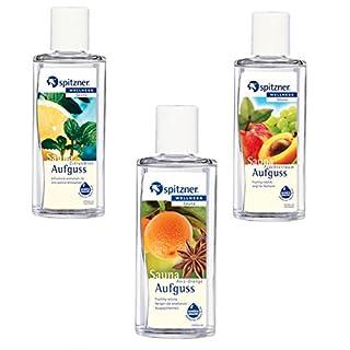 Spitzner Set Saunaaufguss Früchtetraum Citrus Anis Orange 3 Düfte mit je 190ml