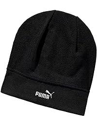 Puma unisex de la nieve de lana beanie logotipo monocromático Puma Cat - Negro
