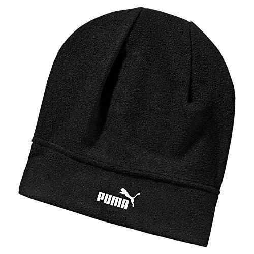 Puma Unisex Neve pile Beanie monocromatico logo PUMA Cat - Nero