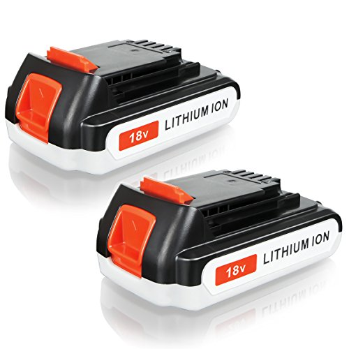 FLAGPOWER 18V 2000mAh Werkzeug Akku für BLACK & DECKER LBXR20 BL2018-XJ GKC1825L GTC1850L20 STC1820 EGBL 188KB EGBL 188K Li-ion Batterie 2.0Ah Accu (2 Stück) Black Und Decker Werkzeug Akkus