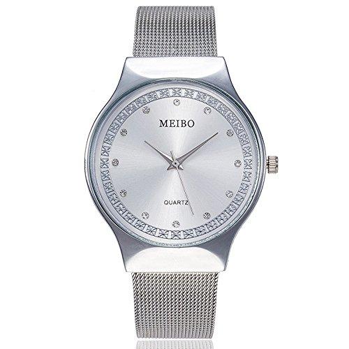 Uhren Damen Armbanduhr Frauenmode Luxus Freizeit Uhr Casual Quarz Edelstahl Armbanduhr Analoge Armbanduhr für Das Festivalgeschenk,ABsoar