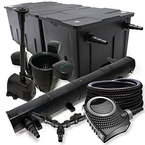 sunsun-filtro-set-90000l-stagno-72-w-laghetti-neo8000-70-w-pompa-25-m-tubo-skimmer-fontana