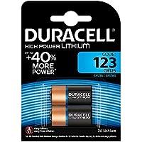 Duracell - CR123 - 2 Piles Lithium de Haute Puissance 123