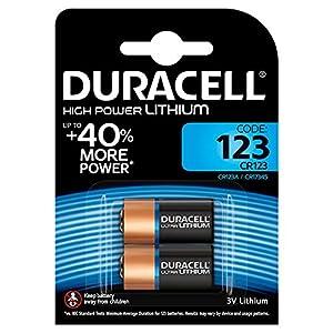 Duracell CR123Batteria al Litio per foto ultra, confezione da 2 pile 51c5cGntX5L. SS300