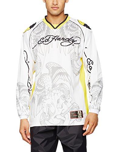 Ed Hardy EH150-03Y-L Crash Test Longshirt, Größe : L, Weiß/Gelb, Anzahl 1 - Hardy Ed T-shirt