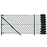 [pro.tec] Rete per recinzione set completto verde zincato [1,25m x 15m] rete saldata filo voliera rete
