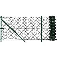 [pro.tec] Set completo valla cerca - malla de alambre de acero galvanizado (1,25m x 15m) verde