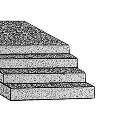 Thomafluid Schaumstoff-Platte aus PE, Stärke: 2 mm, Toleranz: ±0,5 mm, Abmessung: 250 x 250 mm