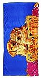 Strandtuch 70x140cm, Handtuch Motiv Hunde Welpen im Korb, Badetuch 100% Baumwolle Microfaser