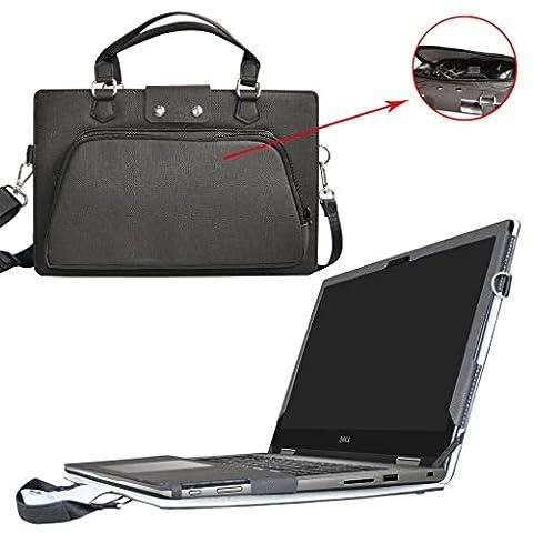 Inspiron 15 2-in-1 5578 5568 Housse,2 en 1 spécialement conçu Étui de protection en cuir PU + sac portable Sacoche pour 15.6