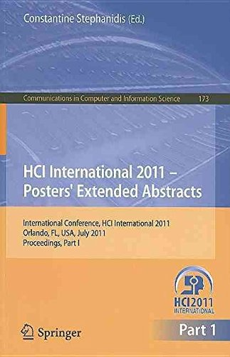 [(HCI International 2011 Posters' Extended Abstracts: Part 1)] [Edited by Constantine Stephanidis] published on (September, 2011)