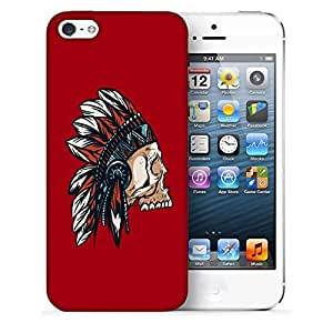 Snoogg Adivasi Skull Designer Protective Back Case Cover For IPHONE 5