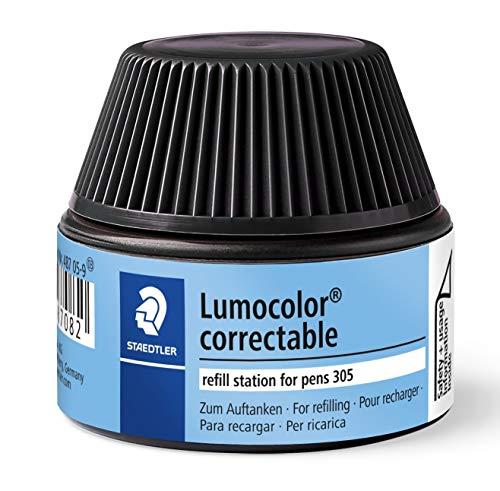 Staedtler 487 05 Lumocolor correctable Nachfüllstation für 305, 15-20x Nachfüllen, schwarz
