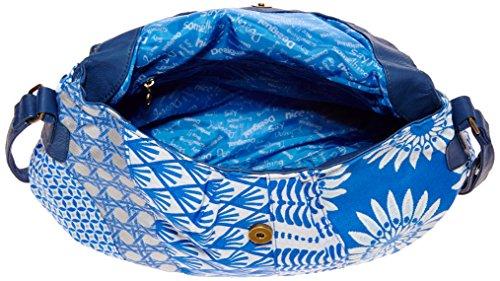 Desigual Bols Soho Jacquard Blue, Borsa a tracolla da donna, blu(bleu (5001 marino)), taglia unica