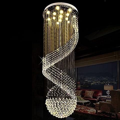 Moderne Luxuxklare Kristallleuchter-Deckenleuchte Kristalljuwel-Diamant-Effekt-Tröpfchen-hohe Leistung LED GU-10 Licht (tragen Sie LED-Flecken-Lichtquelle) ( Color : 40*80 )