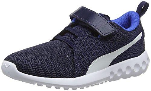 Puma Unisex-Kinder Carson 2 V PS Fitnessschuhe, Blau (Peacoat-Strong Blue White 10), 30 EU