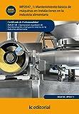 Mantenimiento básico de máquinas e instalaciones en la industria alimentaria. inaq0108 - operaciones auxiliares de mantenimiento y transporte interno en la industria alimentaria