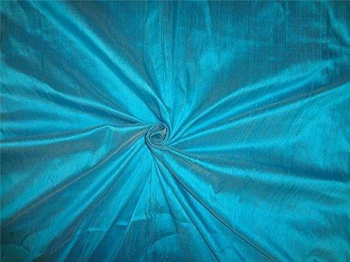 100% Pure Seide Dupionseide Stoff türkis blau 137,2cm -